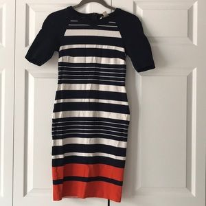 Midi Length Stripped Dress